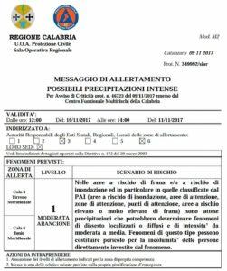 Maltempo – Allerta della Protezione Civile, in arrivo temporali e rovesci sulla Calabria