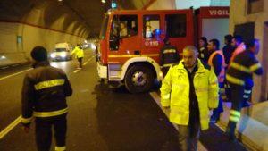 """Anas – Esercitazione di soccorso all'interno della galleria """"Serra Rotonda"""" sull'A2"""