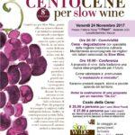 """Venerdì 24 Novembre a Badolato l'ottava Edizione di """"Cento Cene per Slow Wine"""""""