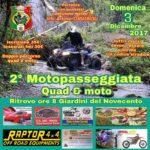 Lamezia Terme – Domenica 3 Dicembre seconda edizione Motopasseggiata Quad e Moto