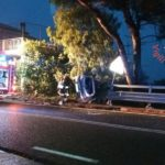 Auto si ribalta a Copanello, ferito il conducente