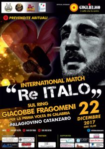 """International Match Re Italo"", al via le prevendite. Giacobbe Fragomeni ritorna sul ring"