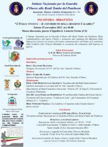 """Lamezia Terme, convegno: """"L'Italia vinceva. Il contributo della regione Calabria"""""""