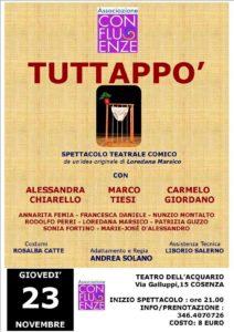 Cosenza – Sold out al Teatro dell'Acquario per l'esilarante commedia Tuttappò