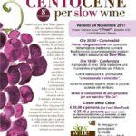 CentoCene per Slow Wine in Calabria: evento a Badolato il 24 Novembre