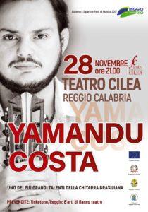 """Il concerto unico in Italia di Yamandu Costa chiude il Festival """"Reggio chiama Rio"""""""
