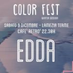 EDDA in concerto a Lamezia Terme per Color Fest Winter Session
