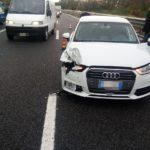 Incidente sull'A2, tre i mezzi coinvolti