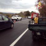 Incidente tra motoape e auto sulla Sp 17, un ferito