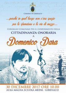 Girifalco – Il 30 dicembre si assegna la cittadinanza onoraria allo scrittore Domenico Dara