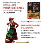 """Torre di Ruggiero – Sabato 23 dicembre presentazione del libro """"Oscura luce Calabra"""""""