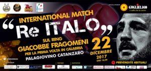 Catanzaro – Venerdì 22 dicembre il ritorno sul ring di Giacobbe Fragomeni