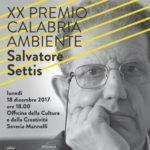 """A Salvatore Settis la ventesima edizione del premio """"Calabria Ambiente""""."""