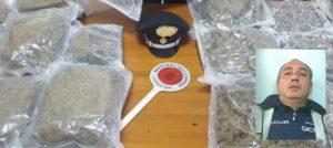 12 kg marijuana nascosta in auto tra i mandarini, 56enne arrestato