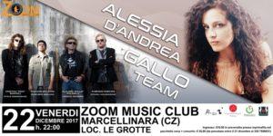 Allo Zoom Music club di Marcellinara il 22 dicembre concerto del Gallo Team e di Alessia D'Andrea