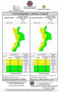 Maltempo – Estesa l'Allerta Meteo della Protezione Civile Calabria