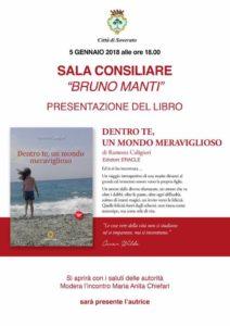 """Soverato – Venerdì 5 Gennaio presentazione del libro """"Dentro te, un mondo meraviglioso"""""""