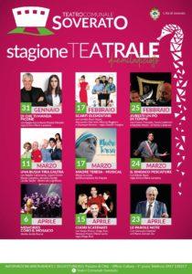 Teatro di Soverato, ecco il cartellone completo della Stagione 2018