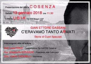 """A Cosenza si presenta il libro """"C'eravamo tanto aRmati"""""""