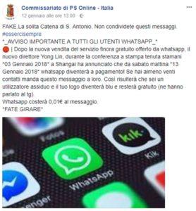 """Whatsapp continua ad essere gratis, interrompiamo le false """"Catene di Sant'Antonio"""""""