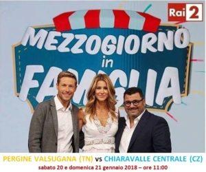"""Chiaravalle Centrale sfida il Trentino a """"Mezzogiorno in Famiglia"""""""