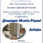 """Soverato – Venerdì 19 Gennaio la conferenza """"Giuseppe Maria Pisani – Artista"""""""