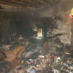 Incendio in una sala condominiale di una palazzina