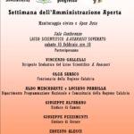 Sabato 10 Febbraio incontro al Liceo Scientifico di Soverato sull'Amministrazione Aperta
