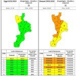 """Maltempo – In arrivo pioggia e venti forti, allerta """"Arancione"""" sulla Calabria"""