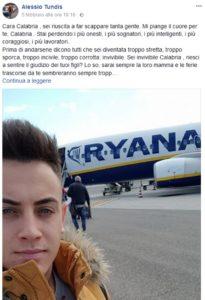 """La lettera di Alessio: """"Cara Calabria, mi piange il cuore ma non puoi offrire dignità ai tuoi figli: scappo anche io"""""""