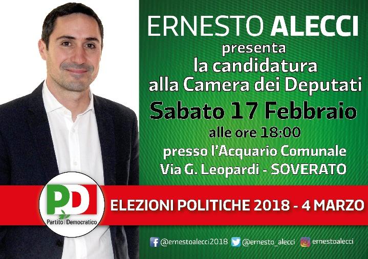 Soverato ernesto alecci presenta la candidatura alla for Web tv camera dei deputati