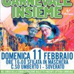"""Domenica 11 Febbraio a Soverato la quarta edizione di """"Carnevale Insieme"""""""