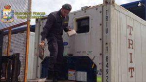 Droga – Sequestrati 28 kg di cocaina nascosti in un container