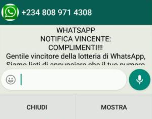 Truffe online – La Polizia Postale ricorda: non esiste alcuna lotteria di Whatsapp