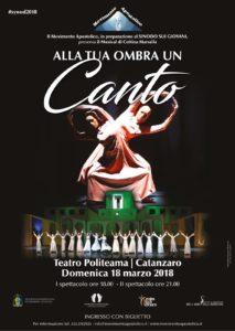 """Domenica 18 Marzo a Catanzaro il musical """"Alla tua ombra un canto"""""""