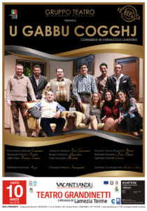 "Lamezia Terme – Sabato 10 marzo l'esilarante commedia ""U gabbu coggj"""
