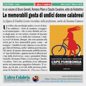 Catanzaro Lido – Un libro sulle undici donne che hanno fatto la storia in Calabria