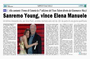 Sanremo Young, il lametino Raffaele Renda al 2° posto