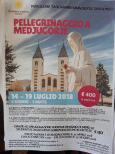 """Dal 14 al 19 Luglio """"Pellegrinaggio a Medjugorje"""""""