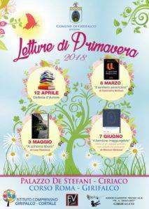 """Al via a Girifalco la rassegna letteraria """"Letture di Primavera"""""""
