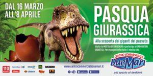 Invasione di dinosauri al Centro Commerciale Due Mari perun'avventura giurassica!