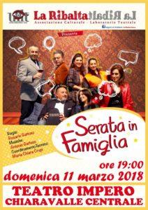 """Chiaravalle Centrale, domani a teatro """"Serata in famiglia"""""""