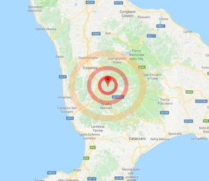 Forte scossa di terremoto in Calabria