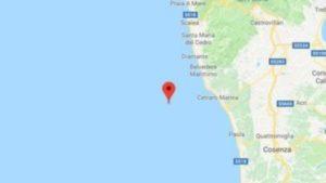 Scossa di terremoto al largo della costa tirrenica calabra