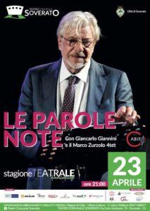 Soverato – Stasera si chiude la stagione teatrale con il recital di Giancarlo Giannini