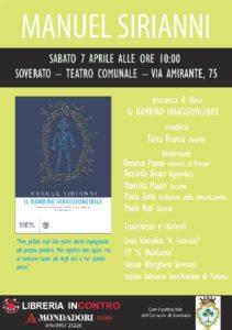 """Soverato – Sabato 7 Aprile presentazione del libro """"Il bambino irraggiungibile"""""""