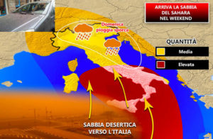 Meteo – Forti venti di scirocco, in arrivo la sabbia del deserto in Calabria
