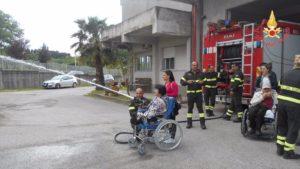 La UILDM di Chiaravalle Centrale incontra i Vigili del Fuoco