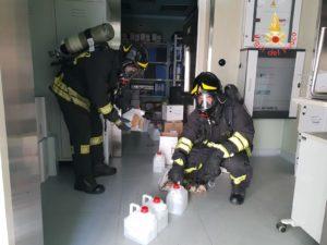 Sversamento di Acido Peracetico all'ospedale di Catanzaro, intervento del Nucleo NBCR