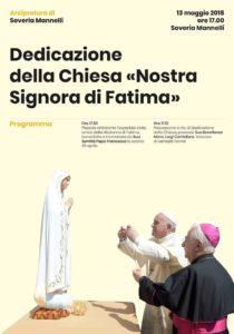 Domenica 13 Maggio dedicazione della Chiesa di Soveria Mannelli alla Madonna di Fatima